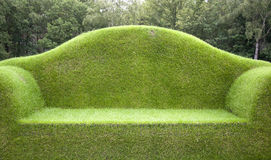 Grass bench Royalty Free Stock Image