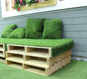 Grass bench Royalty Free Stock Photo