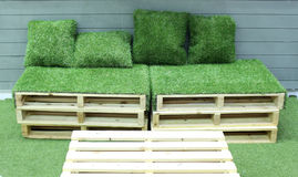 Grass bench Royalty Free Stock Images