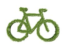 Grass bicycle symbol Royalty Free Stock Photos