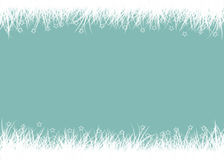 Grass on the blue background Royalty Free Stock Images