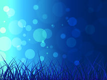 Grass Bokeh Represents Blank Space And Background Stock Image