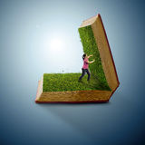 Grass book Stock Images