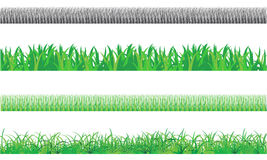 Grass border. Vector illustration. Border of the lawn Stock Photography