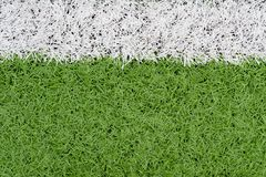 Grass and border line on soccer field. As background Royalty Free Stock Photo