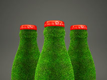 Grass bottle Stock Image