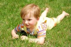 Grass boy Royalty Free Stock Image