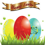 Happy easter, easter eggs. Royalty Free Stock Images
