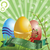 Happy easter,easter eggs. Royalty Free Stock Images