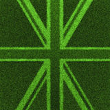 Grass Britain. 3D render of British flag grown from grass Stock Photo
