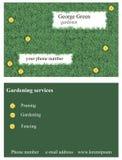 Grass business card Stock Photos