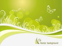 Grass and butterflies Stock Photography