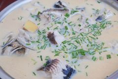 Grass carp soup. Is a dish made of raw materials are mainly grass carp, salad oil, salt, etc.. Even the best fish soup and eat together, this will be to stock photo