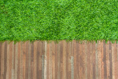 Grass and ceramic tile background. Grass and ceramic tile for background and texture Stock Image