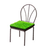 Grass chair Royalty Free Stock Image