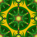 Grass Circle Ormanent Pattern Stock Photography