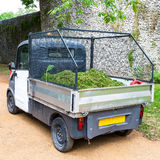 Grass Clippings. A truck containing grass clippings Stock Photos