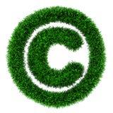 Grass copyright symbol Royalty Free Stock Photography