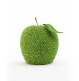 Grass covered apple Stock Photo