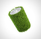 Grass covered battery Royalty Free Stock Photos