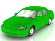 Grass covered car - eco green transport Royalty Free Stock Photo