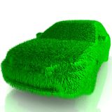 Grass covered car - eco green transport Royalty Free Stock Photos
