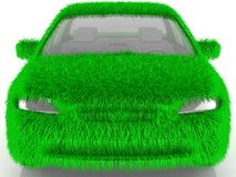 Grass covered car - eco green transport Stock Images