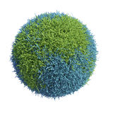 Grass covered Earth globe Royalty Free Stock Photography