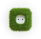Grass covered outlet Stock Photo