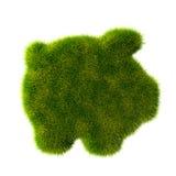 Grass covered piggy bank Stock Photos