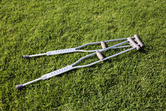 Grass crutches Royalty Free Stock Photography