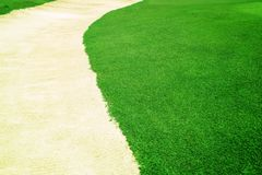 Grass curve sand Royalty Free Stock Photo