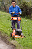 Grass cutting Royalty Free Stock Photography