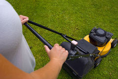 Grass cutting Stock Images
