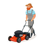Grass Cutting Icon royalty free illustration