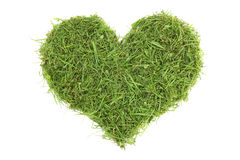 Grass cuttings in a heart shape Royalty Free Stock Photography