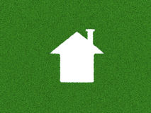 Grass 3D Home Model. 3d Render Royalty Free Stock Image