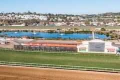Grass and dirt racetracks at Del Mar Stock Photo