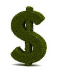 Grass Dollar. Dollar sign ( Computer generated image Vector Illustration