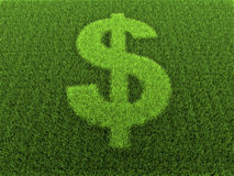 Grass Dollar Sign Stock Image