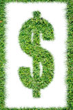 Grass dollar sign Royalty Free Stock Images