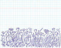 Grass doodles Stock Photography