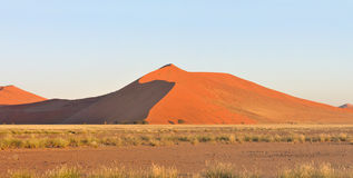 Grass and dune landscape near Sossusvlei, Namibia Stock Image