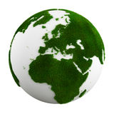 Grass earth - europe. 3d rendering of a grass earth - europe Royalty Free Stock Photography