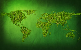 Grass earth map Royalty Free Stock Photos