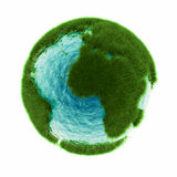 Grass earth with water Stock Photography