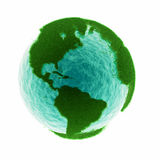 Grass earth with water Stock Photos