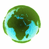 Grass earth with water - Africa Royalty Free Stock Photography