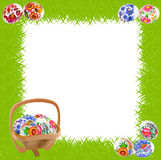 Grass and Easter eggs Royalty Free Stock Photo