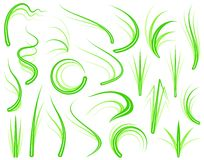Grass elements Royalty Free Stock Photos